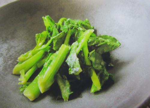 モチナとチジミ菜の炒め物.12.06.05.
