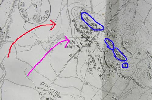 後備歩兵第11旅団の進路.12.09.10.