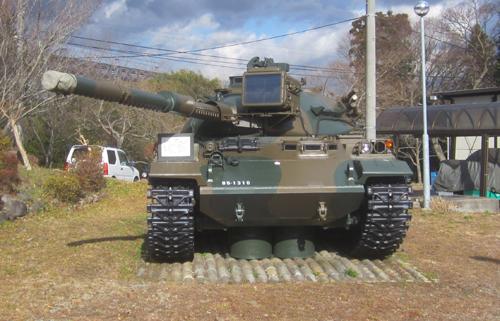 板妻駐屯地の74式戦車.12.12.19.1.