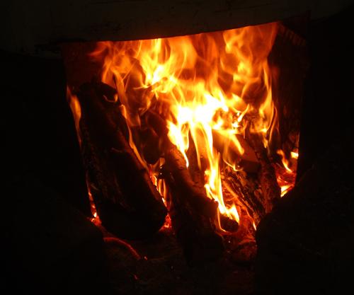 薪ストーブの炎.13.01.10.