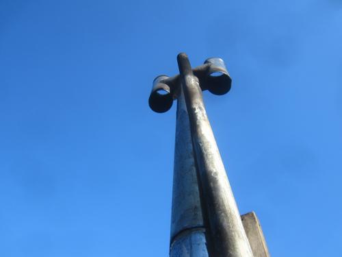 薪ストーブの煙突.13.02.10.